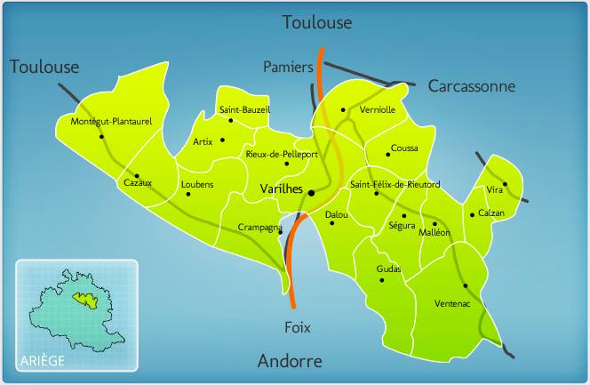 Ariège circuit villes et communes de France
